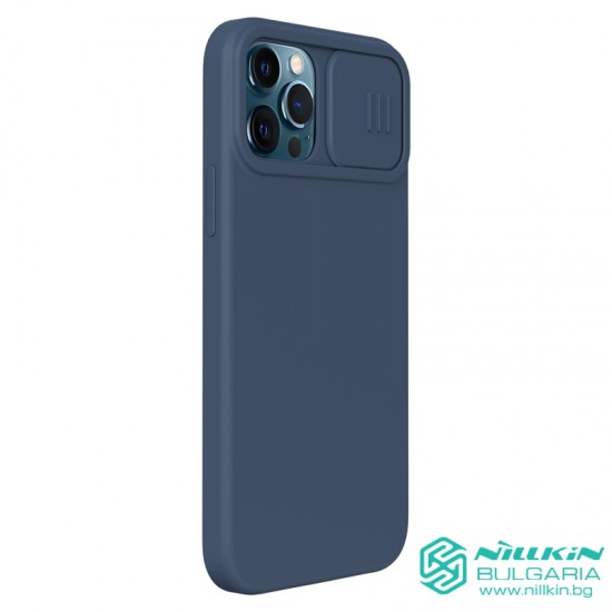 iPhone 12 / 12 Pro силиконов калъф със защита на камерата син