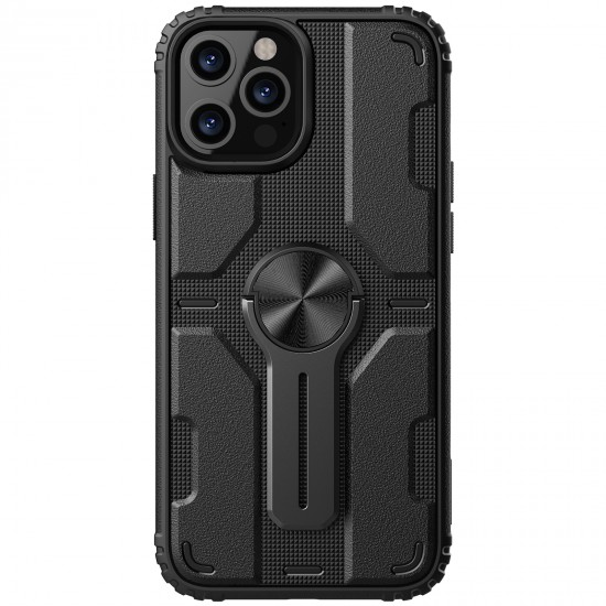 iPhone 12 / 12 Pro калъф твърд гръб Medley черен