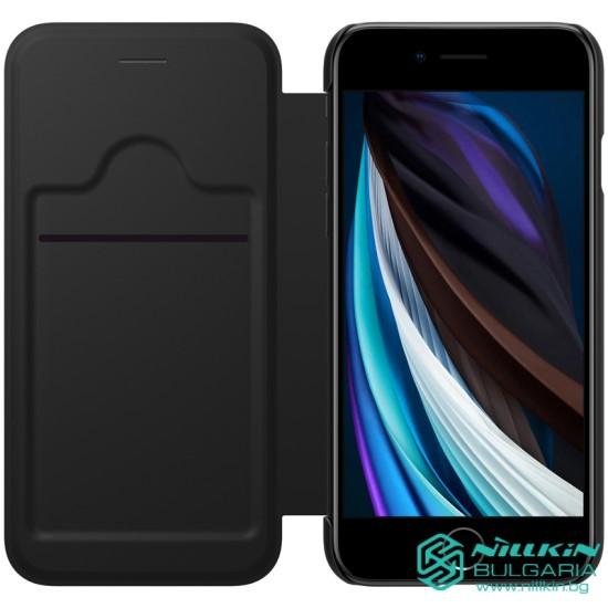 iPhone SE 2020 / 7 / 8 кожен флип калъф Ming черен