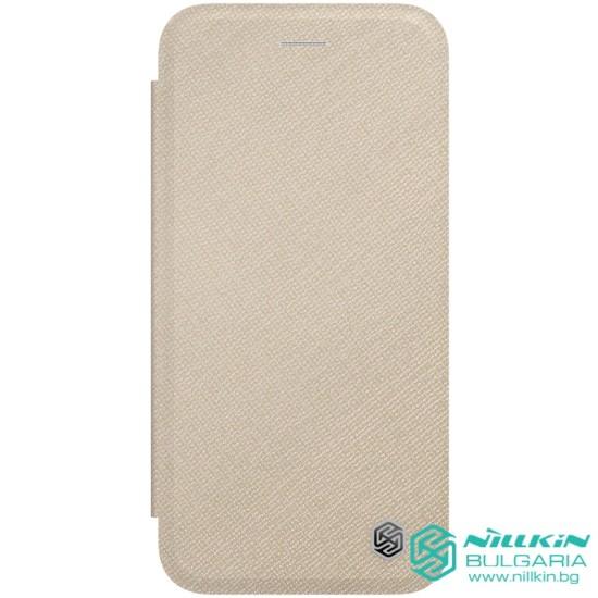 iPhone SE 2020 / 7 / 8 кожен флип калъф Ming бежов