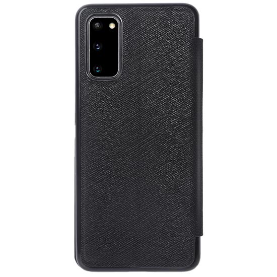 Samsung Galaxy S20 кожен флип калъф Ming черен