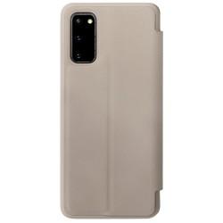 Samsung Galaxy S20 кожен флип калъф Ming бежов