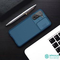 Samsung S21 твърд гръб със защита на камерата  Nillkin син