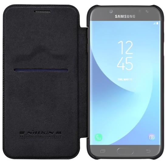 Samsung Galaxy J7 (2017) Кожен флип калъф QIN Nillkin