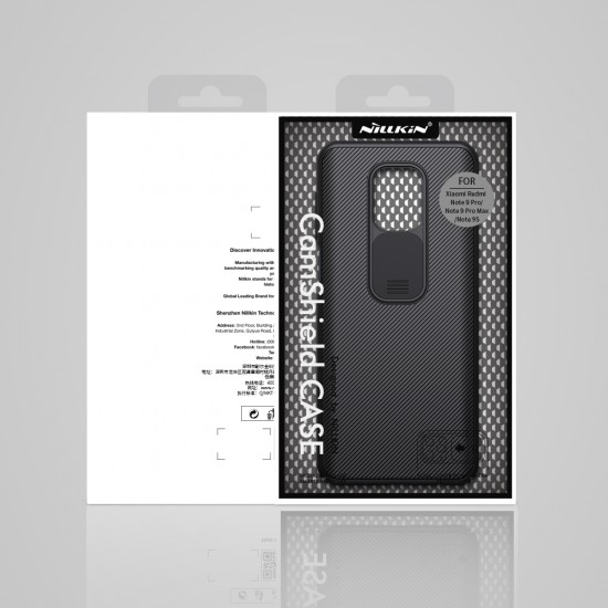 Redmi Note 9S / 9Pro твърд гръб със защита на камерата Nillkin черен