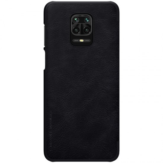 Redmi Note 9S / 9Pro луксозен кожен калъф QIN Nillkin черен