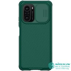 Poco F3/ Mi 11i твърд гръб със защита на камерата  Nillkin тъмно зелен