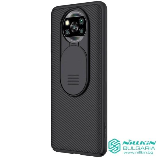 Poco X3 NFC твърд гръб със защита на камерата Nillkin черен