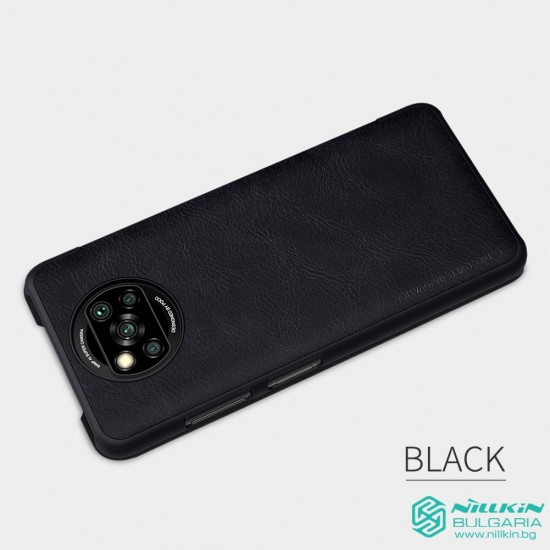 Poco X3 NFC луксозен флип калъф QIN Nillkin черен