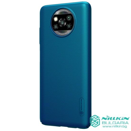 Poco X3 NFC калъф твърд гръб Nillkin син