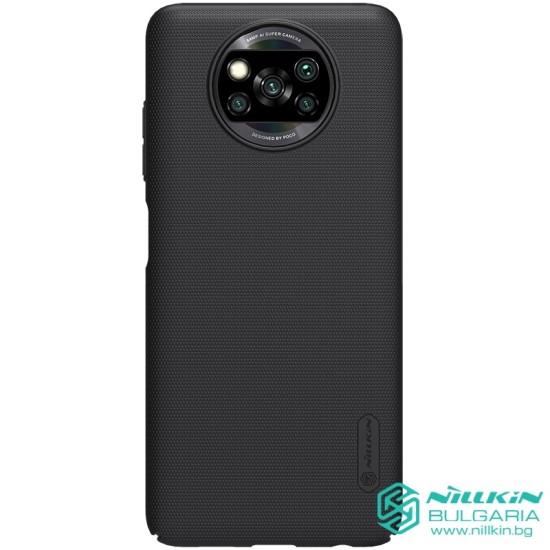Poco X3 NFC калъф твърд гръб Nillkin черен
