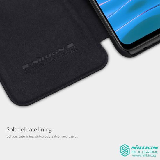 Redmi Note 10 / 10S луксозен кожен калъф QIN Nillkin черен