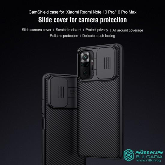 Redmi Note 10 Pro твърд гръб със защита на камерата  Nillkin черен