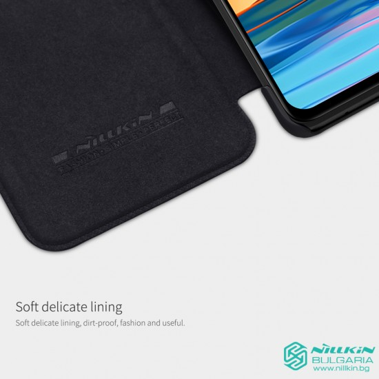 Redmi Note 10 Pro луксозен кожен калъф QIN Nillkin черен