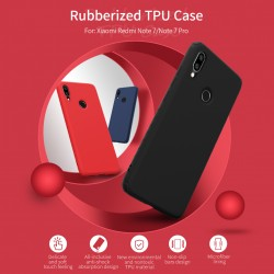 Redmi Note 7  гумиран калъф Rubber Wrapped Nillkin син