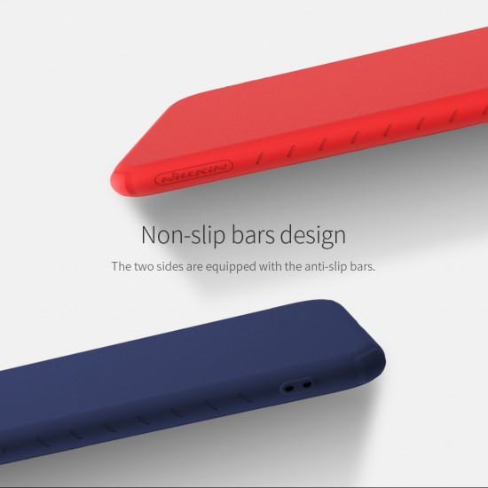 Redmi Note 7  гумиран калъф Rubber Wrapped Nillkin червен