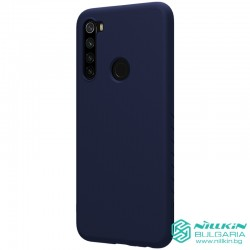 Redmi Note 8 гумиран калъф Rubber Wrapped Nillkin син