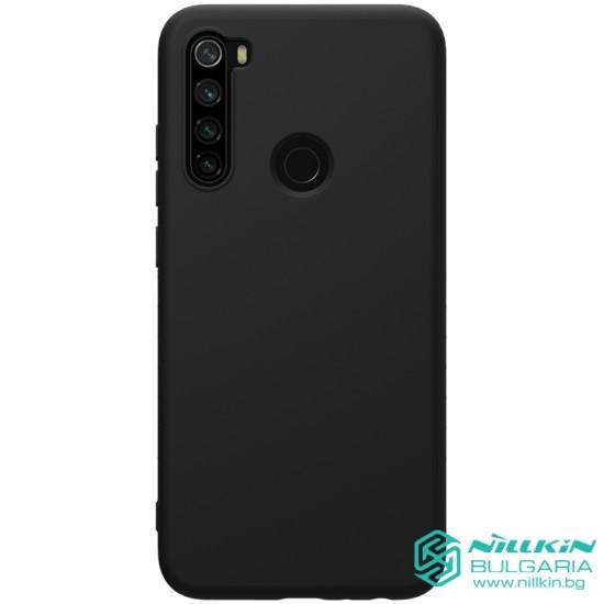 Redmi Note 8 гумиран калъф Rubber Wrapped Nillkin син