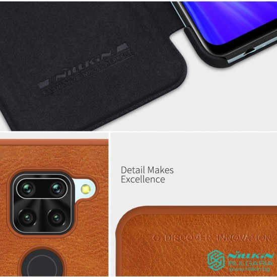 Redmi Note 9 луксозен кожен калъф QIN Nillkin черен