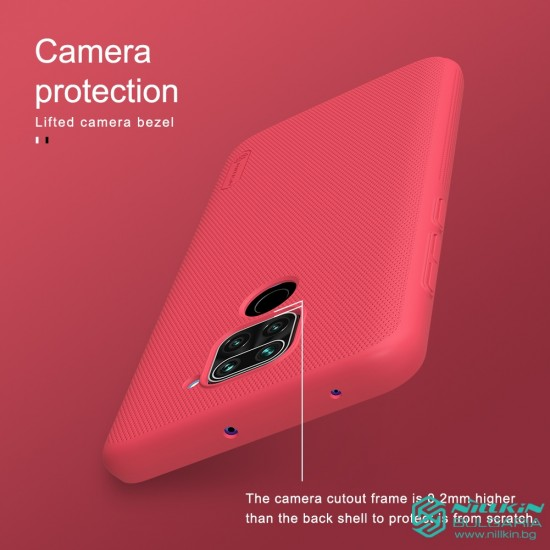 Redmi Note 9 калъф твърд гръб Nillkin червен