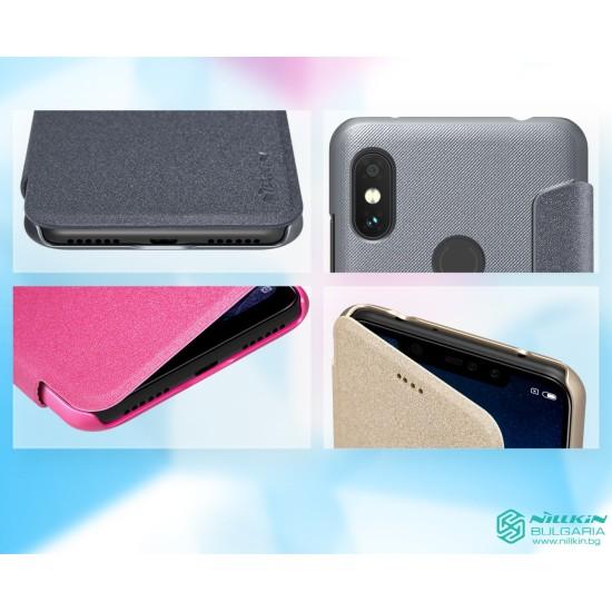 Redmi Note 6 Pro флип калъф Nillkin златист